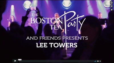 Lee Towers live band - feestband Boston Tea Party